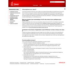 Informations sur Java 8