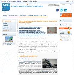 Mise en place de points d'accès public à internet - informations et conseils juridiques