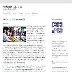 Informations sur le Venezuela