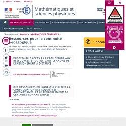 Mathématiques et sciences physiques - Académie d'Amiens