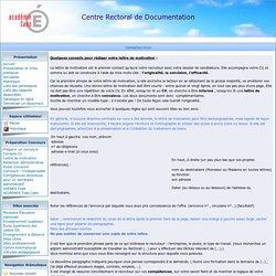 Rectorat de Caen - Informations : Conseils pour lettre de motivation