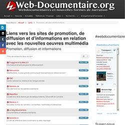Liens vers les sites de promotion, de diffusion et d'informations en relation avec les nouvelles oeuvres multimédia