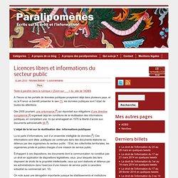 Licences libres et informations du secteur pub