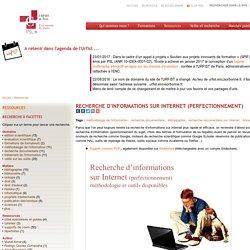 Recherche d'informations sur internet (perfectionnement)