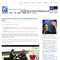 Rencontre du 26 mars : Internet des objets et Privacy by Design