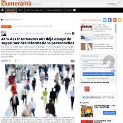 43 % des internautes ont déjà essayé de supprimer des informations personnelles