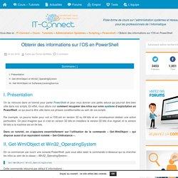 Obtenir des informations sur l'OS en PowerShell