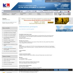 Informations pratiques pour l'Egypte - Business France