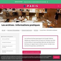 Les archives : informations pratiques