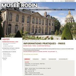 Informations pratiques - Paris