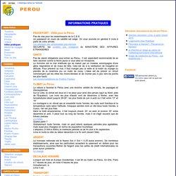 Informations pratiques sur le PEROU