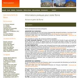 Informations pratiques sur Rome.
