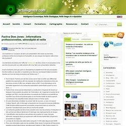 Factiva Dow Jones : Informations professionnelles, sérendipité et veille