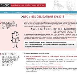 Informations au programme d'e-learning DPC, organisme de formation des médecins