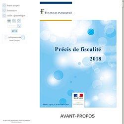 Informations : Avant-Propos - Précis de fiscalité 2018