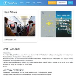 Spirit Airlines Informations on booking, rebooking, contact, customer service