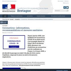 PREFECTURES-REGIONS_GOUV_FR 24/03/20 Coronavirus : informations, recommandations et mesures sanitaires