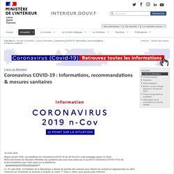 Coronavirus COVID-19: Informations, recommandations & mesures sanitaires / L'actu du Ministère / Actualités