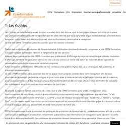 Informations relatives aux cookies - CFPM Formation