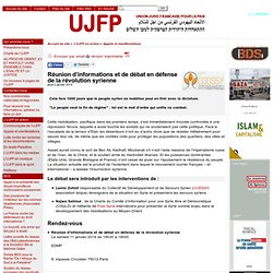 Position UJFP conflit syrien