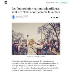 """Les fausses informations scientifiques sont des """"fake news"""" comme les autres"""