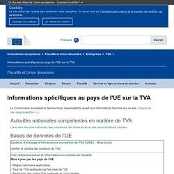 TVA: informations spécifiques par pays