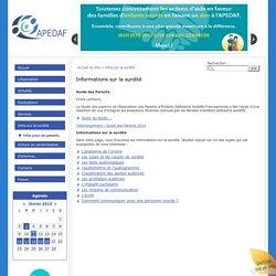 Informations sur la surdité - APEDAF