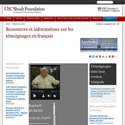 Ressources et informations sur les témoignages en français