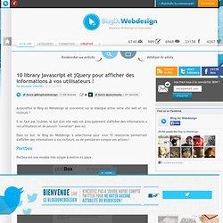 10 library javascript et jQuery pour afficher des informations à vos utilisateurs