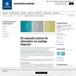 Sällsynta sjukdomar - Sahlgrenska akademin, Göteborgs universitet