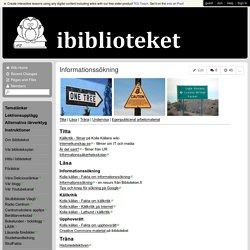 ibiblioteket - Informationssökning