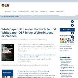 Whitepaper OER in der Hochschule und Whitepaper OER in der Weiterbildung erschienen - OERinfo – Informationsstelle OER