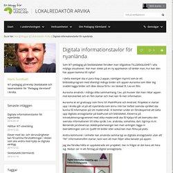 Digitala informationstavlor för nyanlända