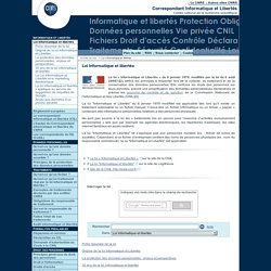 Loi Informatique et libertés - Fil d'actualité du Service Informatique et libertés du CNRS