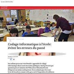 Codage informatique à l'école: éviter les erreurs du passé