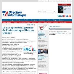 Le 21 septembre, journée de l'informatique libre au Québec