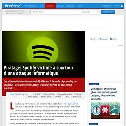 Piratage: Spotify victime à son tour d'une attaque informatique