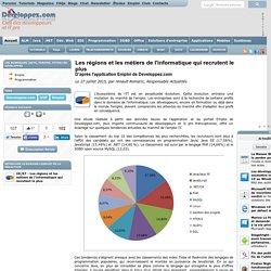 Les r gions et les m tiers de l'informatique qui recrutent le plus, d'apr s l'application Emploi de Developpez.com