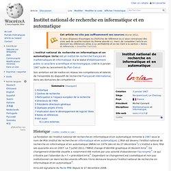 Institut_national_de_recherche_en_informatique_et_en_automatique - TerritorioScuola Enhanced Wiki Alfa Français Renforcée