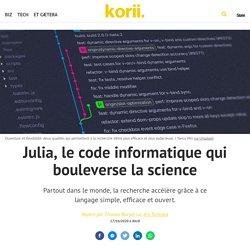 Julia, le code informatique qui bouleverse la science
