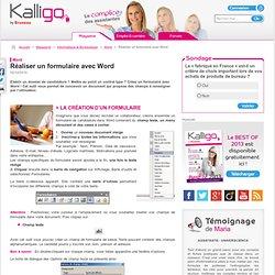 Réaliser un formulaire avec Word - Word, Informatique & Bureautique