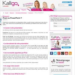 Prezi ou PowerPoint ? - Powerpoint, Informatique & Bureautique