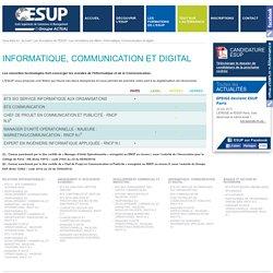 Toutes les formations Informatique, Communication, Digital - ESUP