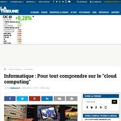 """Informatique : Pour tout comprendre sur le """"cloud computing"""""""