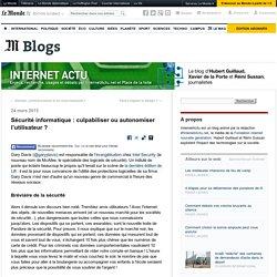 Sécurité informatique : culpabiliser ou autonomiser l'utilisateur