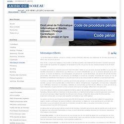 Avocat - droit pénal - informatique - cybercriminalité - piratage - Informatique et libertés