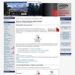 """Action """"Informatique débranchée"""" - [IREM de Grenoble]"""