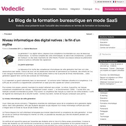 Niveau informatique des digital natives : la fin d'un mythe