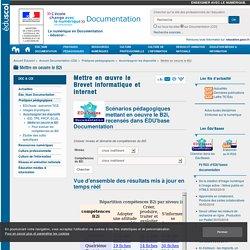 Mettre en œuvre le Brevet informatique et internet — Documentation (CDI)