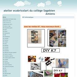 DIY informatique - atelier ecobricolart du collège Sagebien Amiens